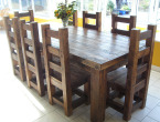 all by wooden wood dining table