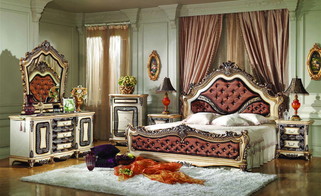 fancy and luxury classic bedroom furniture set
