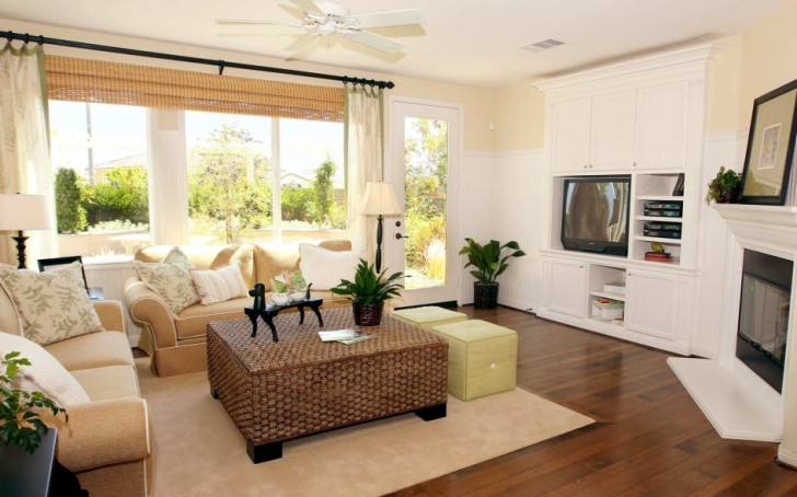 Modern Living Room Ideas With Big Window And Door Glass Make Cool And Bright