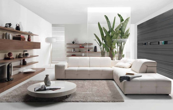 white is always clean and fancy to make modern living room ideas