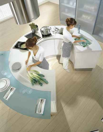 white round kitchen table stove oven sink and kitchen appliance stainless
